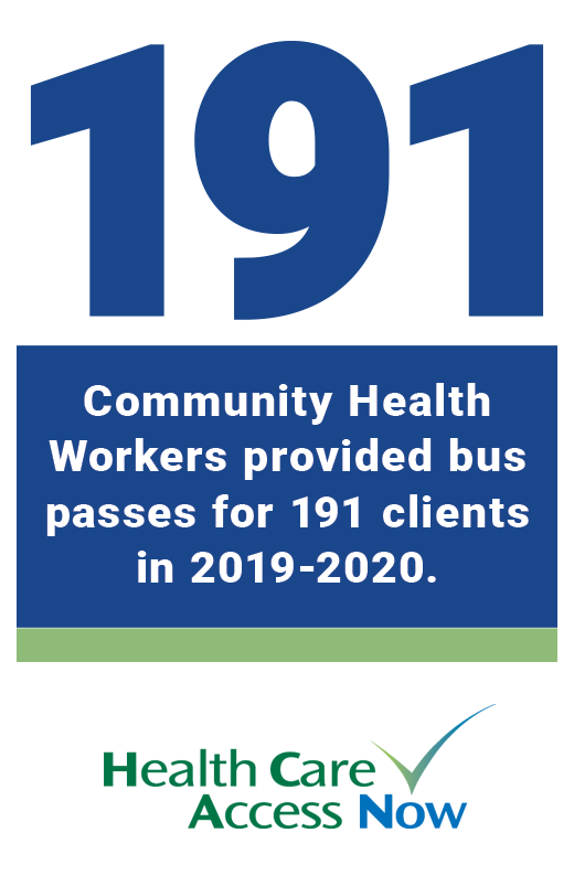 Community Health Workers provide bus passes